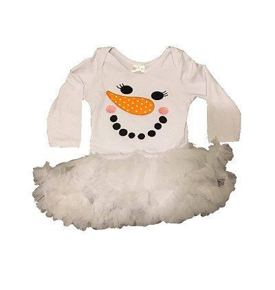 Snowman Tutu Romper for baby girls.  Perfect for winter & holidays www.My4Princesses.com