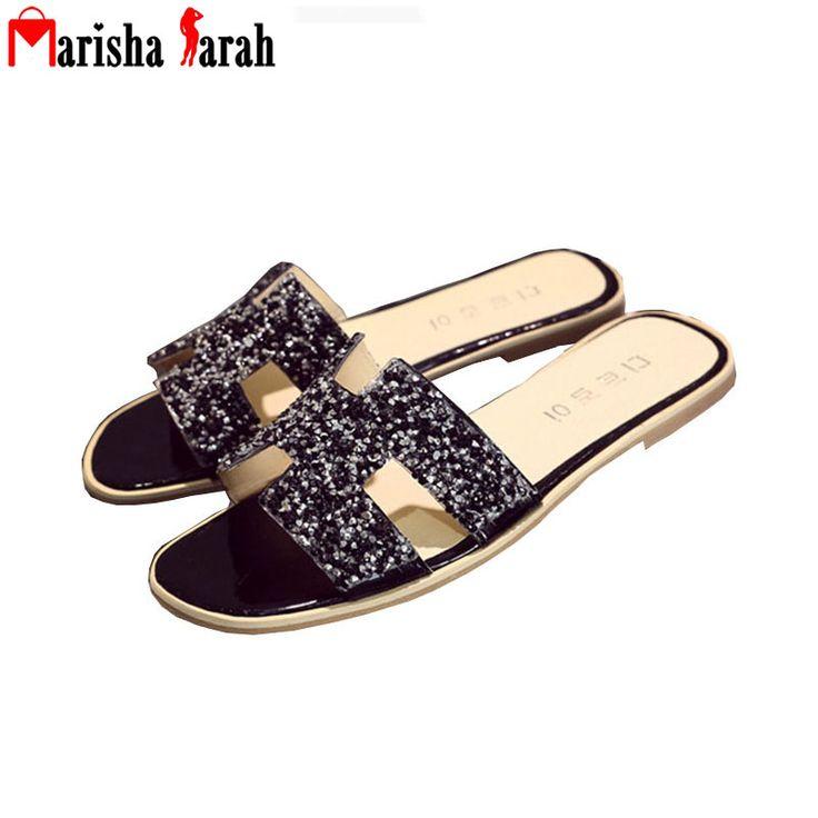 $13.92 (Buy here: https://alitems.com/g/1e8d114494ebda23ff8b16525dc3e8/?i=5&ulp=https%3A%2F%2Fwww.aliexpress.com%2Fitem%2F2016-New-Women-Sandals-Flip-Flops-Crystal-Shoes-Brand-Designer-Flats-Palmprint-Sandal-Summer-Slippers-scarpe%2F32667714132.html ) 2016 Women Sandals Flip Flops Crystal Shoes H Brand Designer Flats Palmprint Sandal Summer Slippers Scarpe Donna Zapatos Mujer for just $13.92