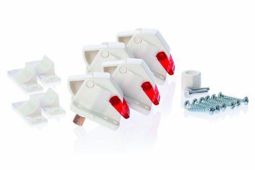 Dreambaby Mag Lock – Seguro infantil para puertas y cajones (4 unidades), color blanco