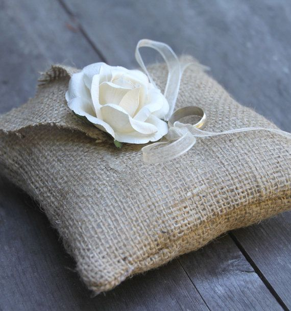 Burlap ring bearer pillow burlap pinterest diy ugly for Diy ring bearer