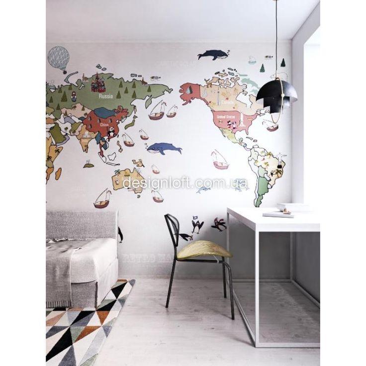 """Дизайнерские обои """"Карта"""" designer Bogdan Shiptenko"""