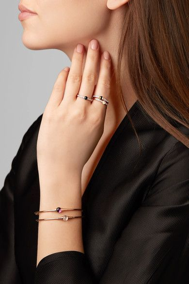Pomellato M'ama non M'ama 18-karat rose gold, diamond and peridot ring