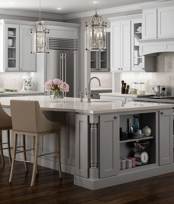 Stunning shaker cabinets painted an airy light