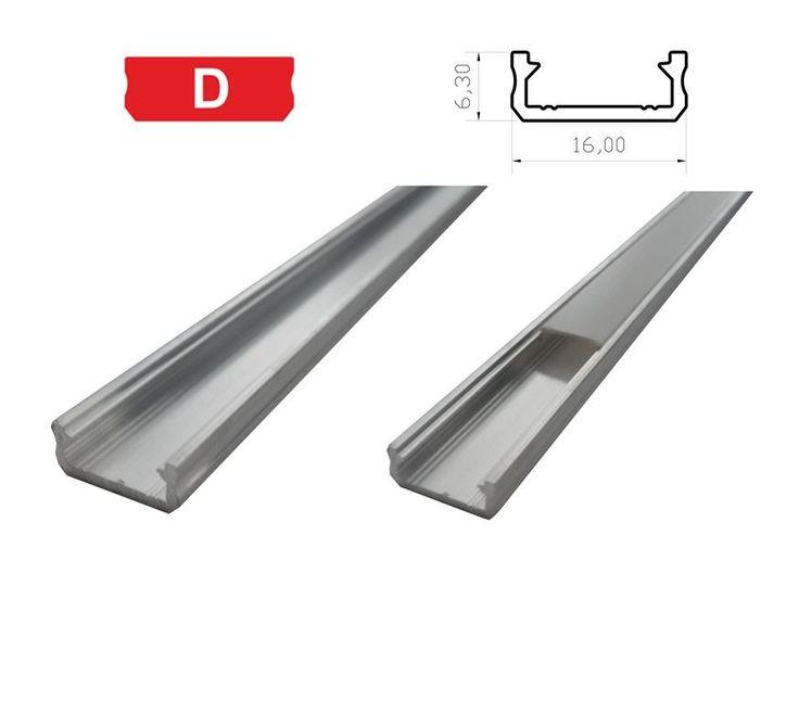 Hliníkový profil SLIM 1m pro LED pásky, ALU lišta. Hliníkový profil SLIM 1m pro LED pásky, ALU lišta