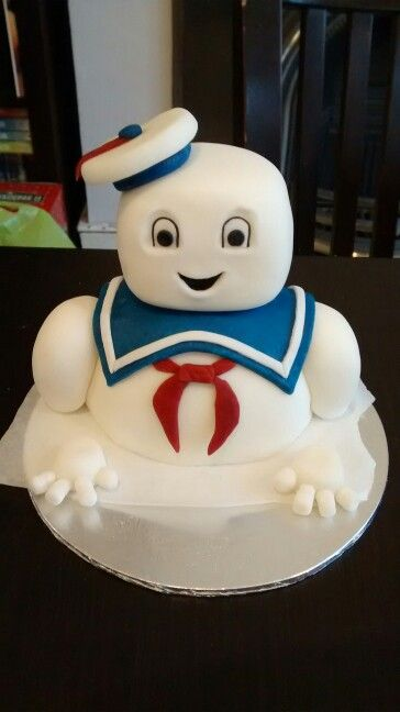 Mr Stay Puft Ghostbusters Cake Topper fondant