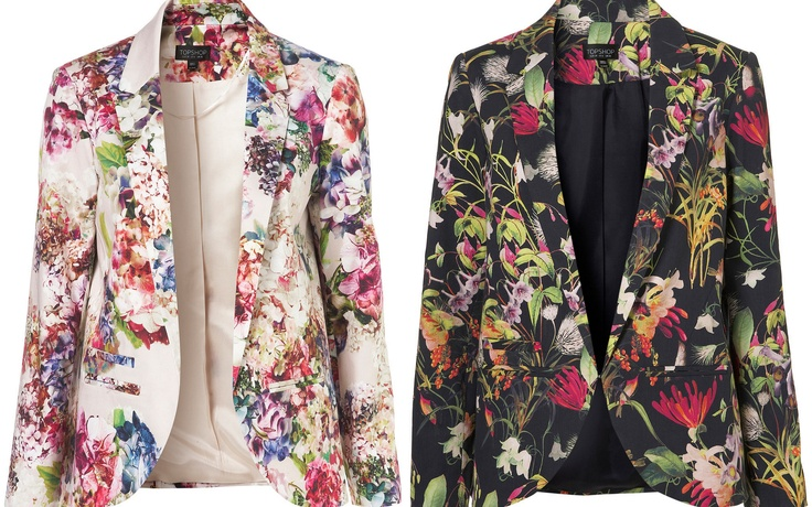 Adore floral blazers... and can not top this cute pair from #Topshop!   A-dorablay