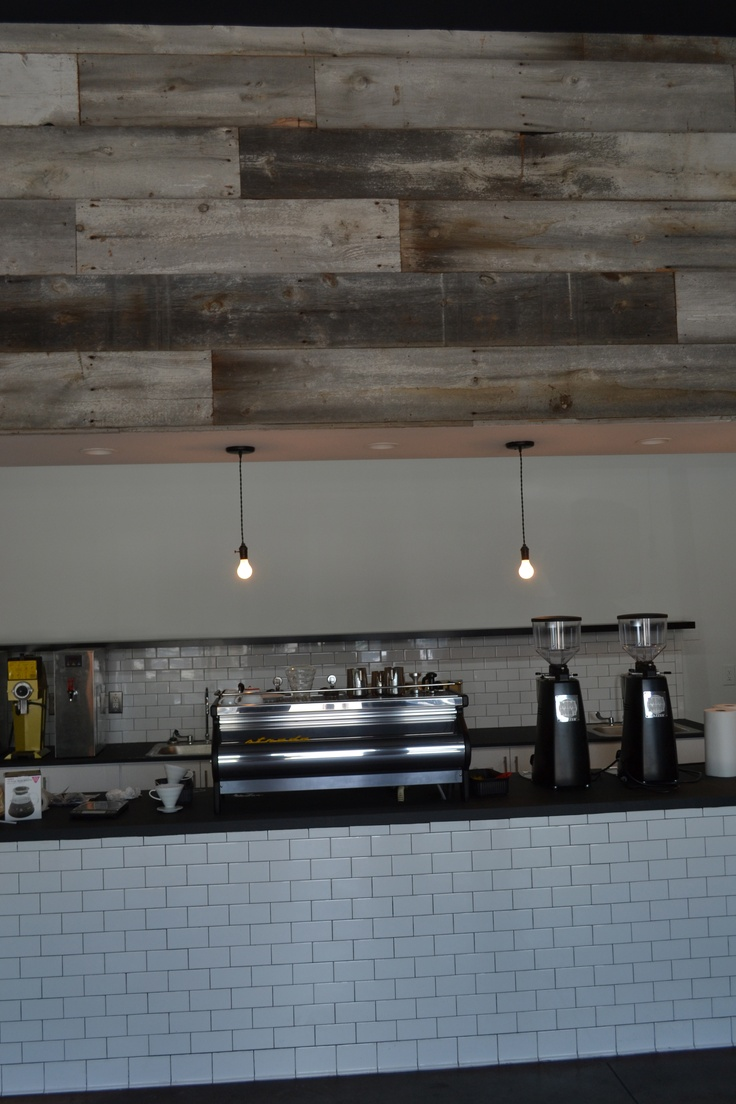 Barn Wood Soffit At The Collective Coffee Company In Mt