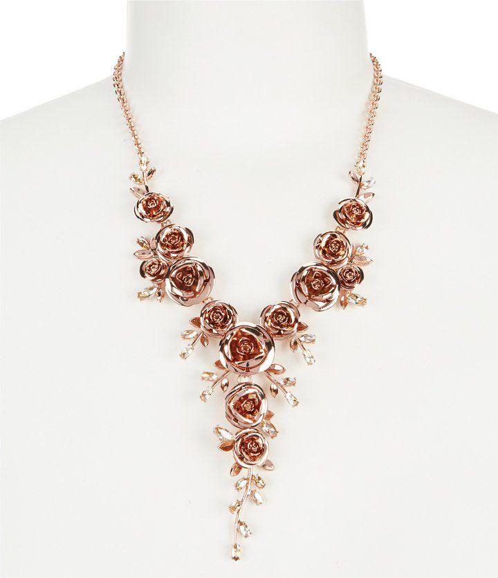 Kate Spade Garden Garland Rose Y-Necklace