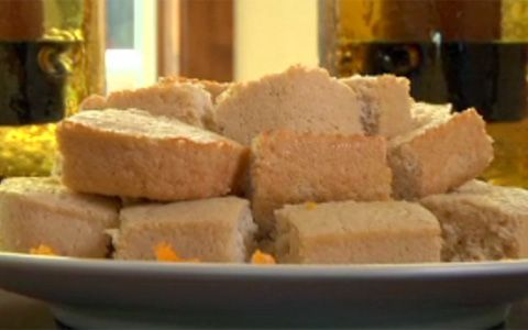 Jamie Eason's Lemon Protein Bars      Calories: 86      Fat: 1 gram      Carbs: 10 grams      Protein: 9 grams  I substituted the crystal light with the rind and juice of 1 lemon!