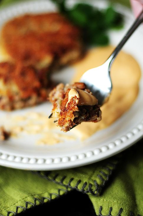 Black-Eyed Pea Cakes with crazy delicious comeback sauce