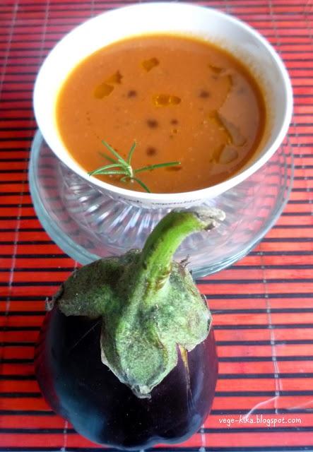 Zupa z bakłażana i pomidorów