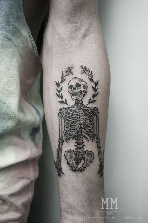 best 25+ skeleton tattoos ideas on pinterest | skeleton tattoo man, Skeleton