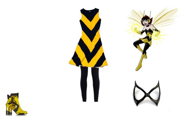 WASP by mayleneholm on Polyvore featuring Slater Zorn, NIKE, Maison Margiela and Masquerade