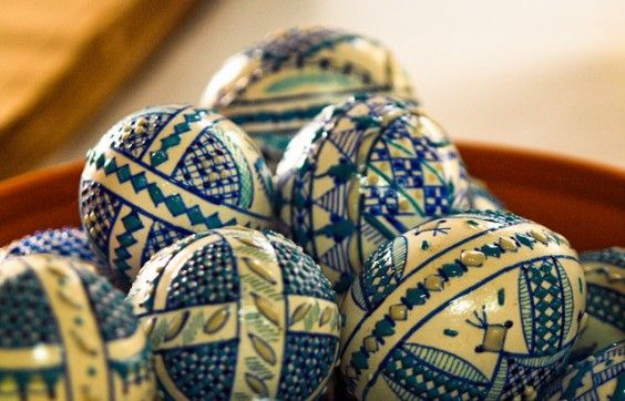 Painted eggs championships in Romania