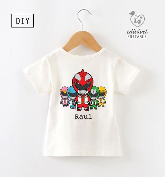 Power Rangers Shirt iron on transfer Power Rangers tshirt