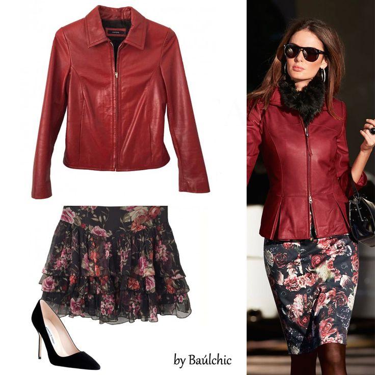 Rojo perfecto!! Una idea para llevar con estilo tu #cazadora de #cuero. Prendas únicas disponibles en la web .... y con #descuentos!!! Haz '#SmartShopping' repetirás la experiencia.  http://www.baulchic.com/474e-sh…/falda-pedro-del-hierro.html http://www.baulchic.com/854e-shop-i…/chaqueta-cortefiel.html  #moda #estilo #preciosdelujo #chic #chiclovers #bauldelujo #Baulchic