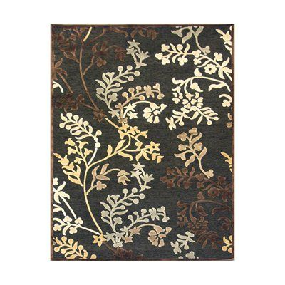 Rug Studio LEAF Leafscape Area Rug, Charcoal  Leafscape Charcoal Area RugThe luminous texture and vibrant colors of these woven rugs add glamour to any