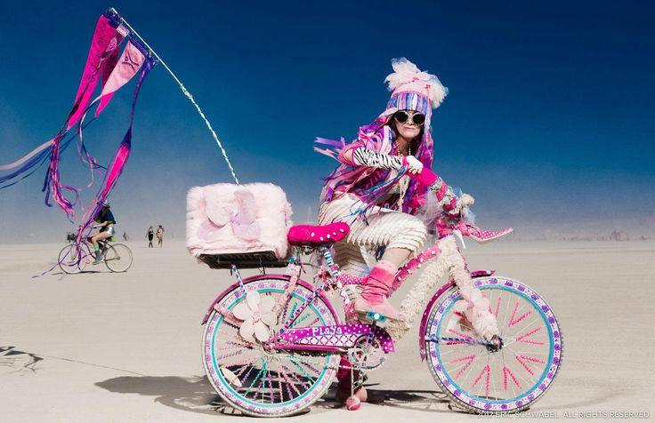 Biking in the desert. #burningman #desertstyle #music