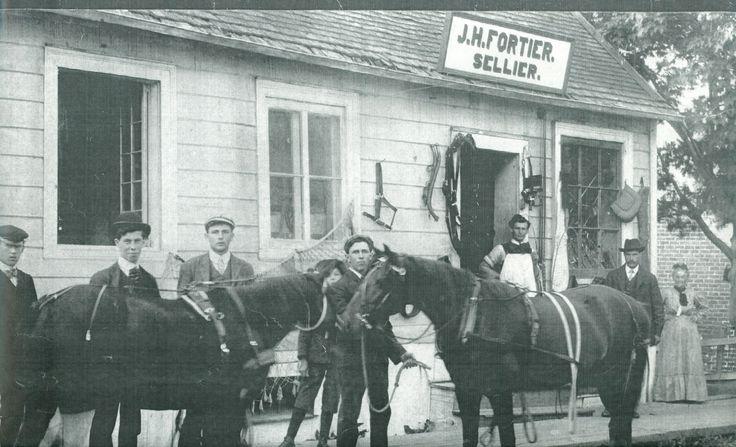 Le coeur de Saint-Thomas | Avant 1916, le sellier J.-H. Fortier tenait boutique au centre-ville de Montmagny. © Société d'histoire de Montmagny.