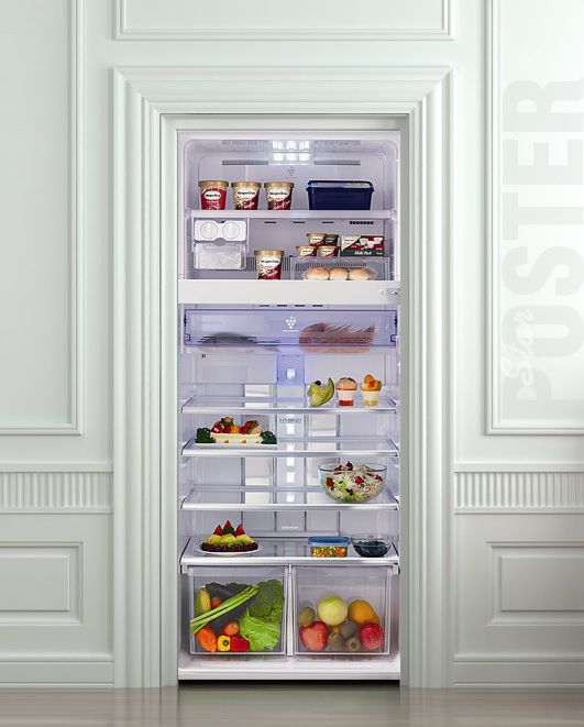 Door Wall or Fridge STICKER food refrigerator mural decole mural decal poster #Realism