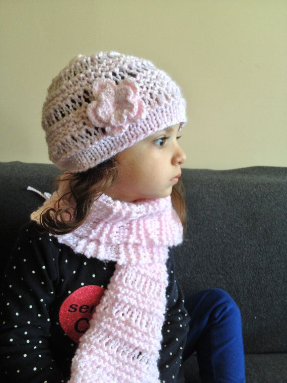 SUPER SOFT Baby/Childrent Hat and Scarf Set by Knitkozi on Etsy, $40.00 For more selection of these beautiful scarves and hats visit: https://www.etsy.com/ca/shop/Knitkozi?ref=si_shop