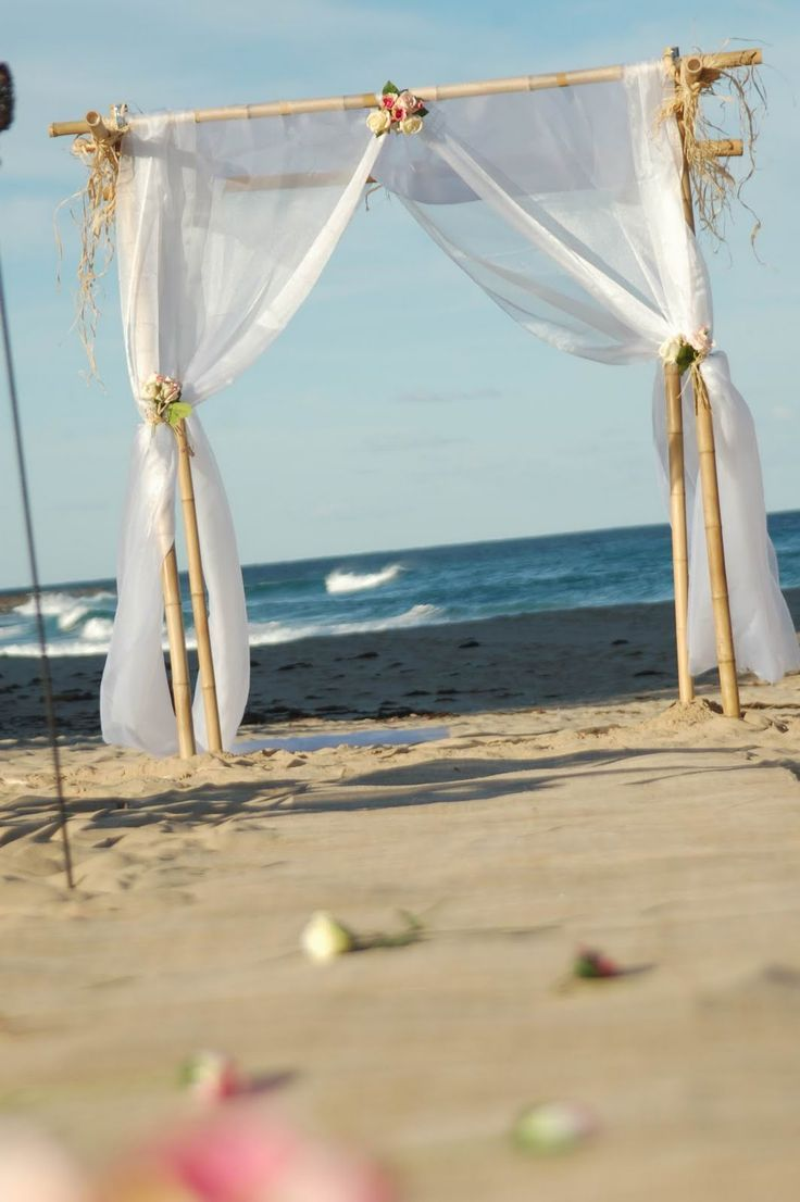 14 best bamboo arch (3 post) images on pinterest | beach wedding