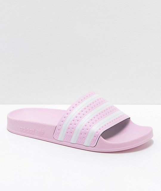 official photos ae072 97443 adidas Kids Adilette Pink Slide Sandals