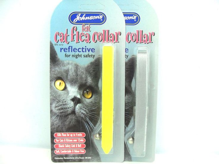 Johnson's Felt Cat Flea Collar Reflective Collar with Bell for Night Safety #Johnsons