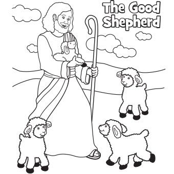 The Good Shepherd Easter coloring page.