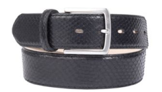 Buckles & Belts - Belt/Gürtel - New Collection 2016 - Pitone - Phyton Leather - nero - black - Design in SWITZERLAND made in ITALY https://www.facebook.com/BucklesBelts