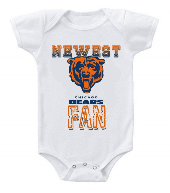 NEW Football Baby Bodysuits Creeper NFL Chicago Bears #2