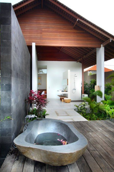 Consider and Outdoor Bathroom (If You Have the Climate For It)