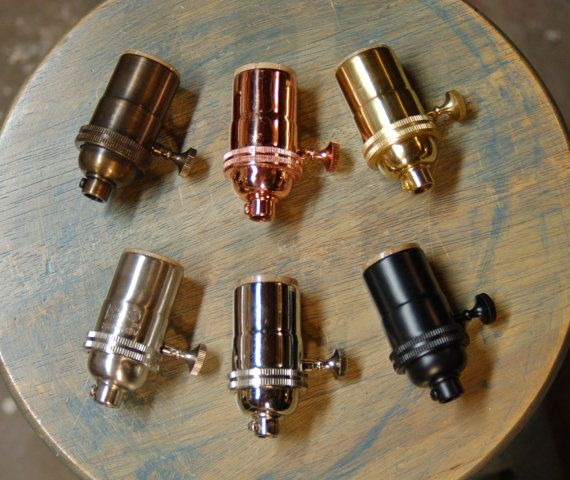 Solid Brass Light Socket TurnKnob Version 6 by SnakeHeadVintage, $8.59