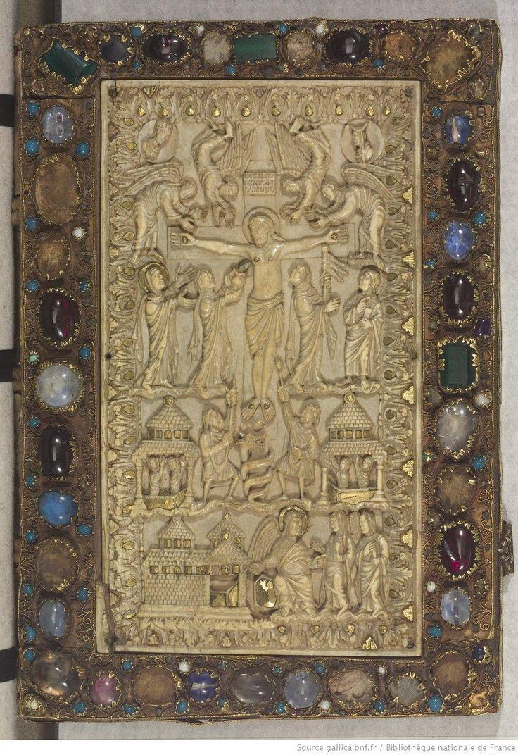 Plat de reliure - Évangéliaire carolingien, abbaye Saint-Gall, v. 875-900 - Paris, BnF, lat. 9453
