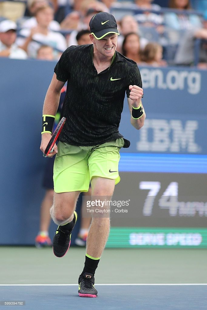 S. Open - Day 5 Kyle Edmund of Great Britain in action against John Isner of the…