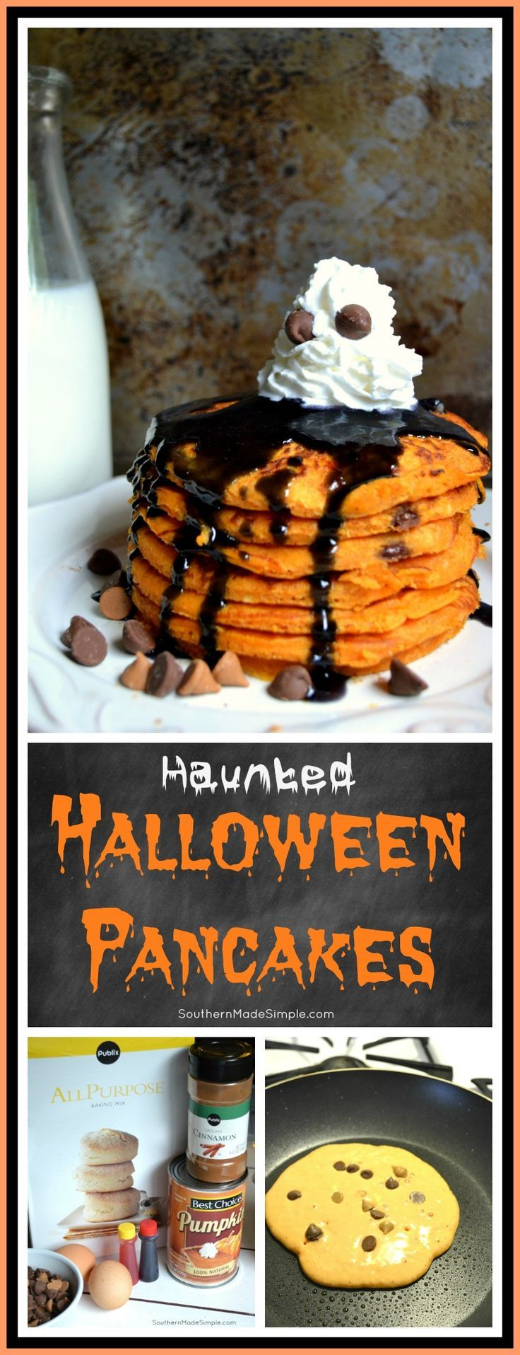 haunted halloween pancakes - Scary Dishes For Halloween