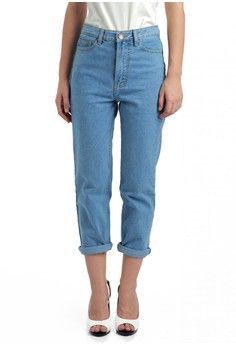 MKY Boyfriend Jeans in Light Blue from MKY Clothing in blue_1