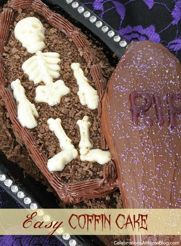 How To Make A Halloween Coffin Cake + Blog Hop