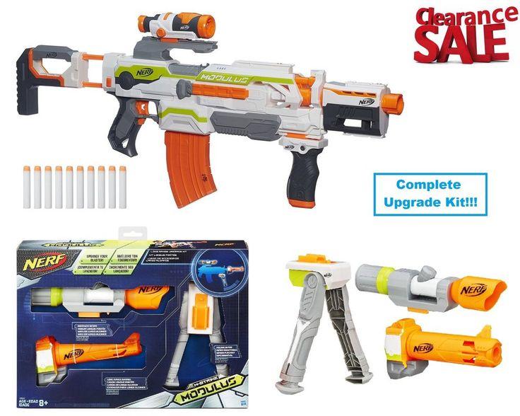 Nerf Soft Dart Gun Toy NStrike Modulus Elite Blaster With Long Range Upgrade Kit #Nerf