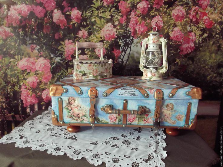 Купить Чемодан -Сундук для приданого - чемодан, сундук, сундучок для денег, винтажный стиль, свадебный аксессуар