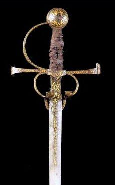 14th century Europe., Sword  belonging to Francisco Pizarro ,
