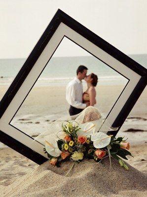 idées photo de mariage couple cadre