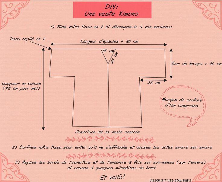 Lissou et les couleurs: DIY: Une veste kimono ...                                                                                                                                                                                 Plus