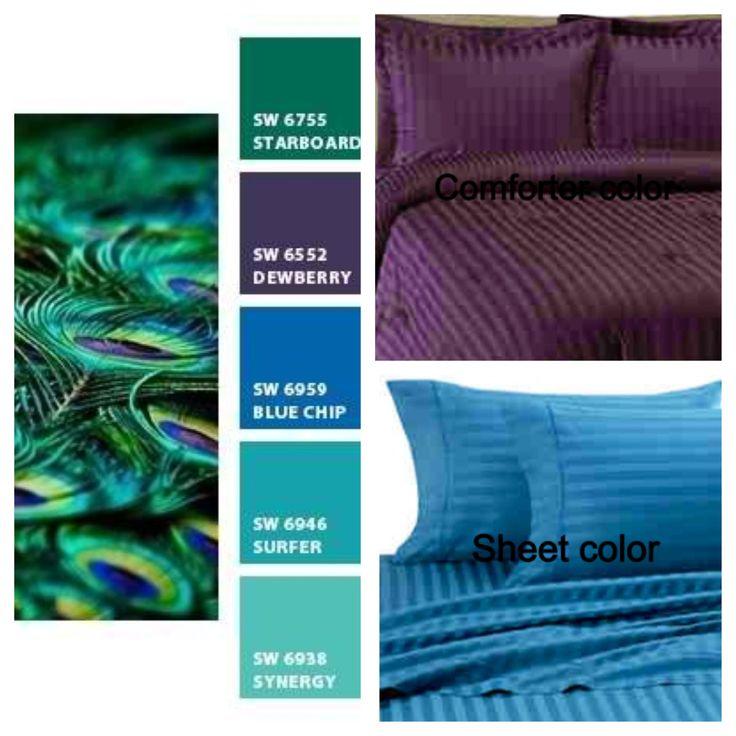 Peacock Turquoise Bedroom Dec Ideas