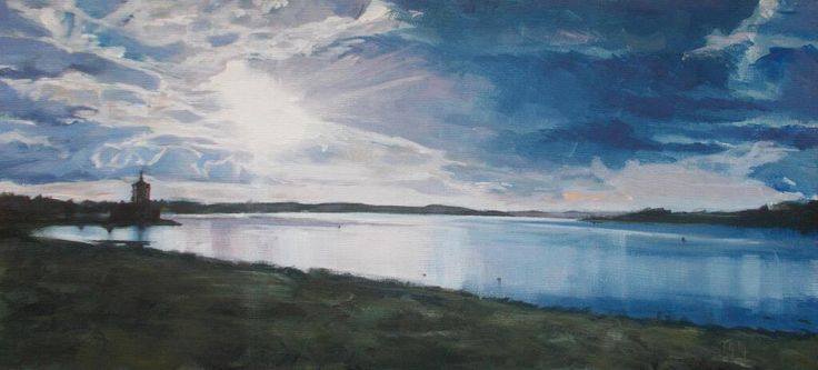 #skymarch #painting i did at the weekend from our trip to #Rutland water, Normanton Church. 2/3/14 Embedded image permalink