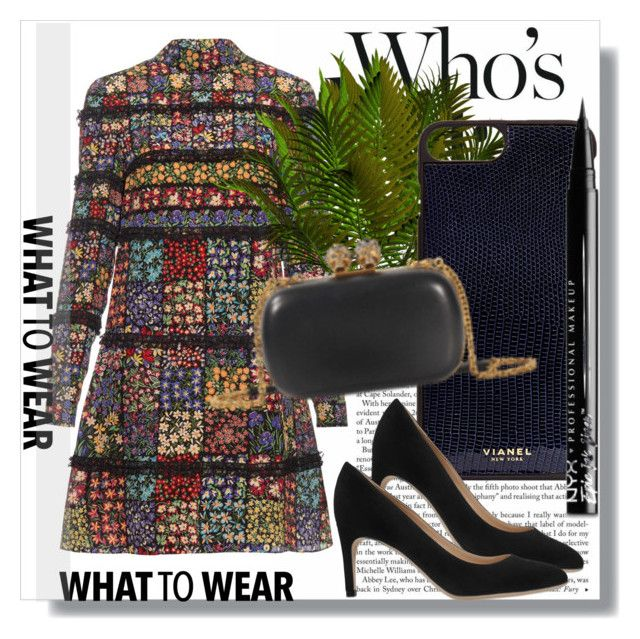 """""""Monnier Freres !!"""" by dianagrigoryan ❤ liked on Polyvore featuring Valentino, Vianel, Sergio Rossi and NYX"""