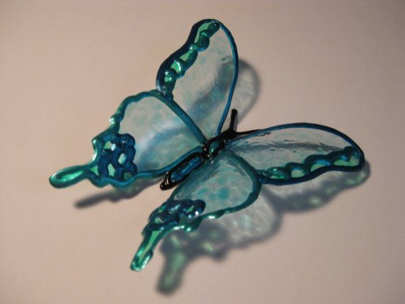 Decorative Butterflies Upcycled Plastic Bottle Art by theseanymph, $10.00