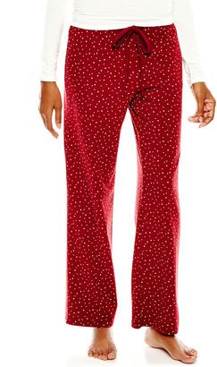 LIZ CLAIBORNE Liz Claiborne Knit Sleep Pants - Petite - Shop for women's Pants - Red Flurries Pants