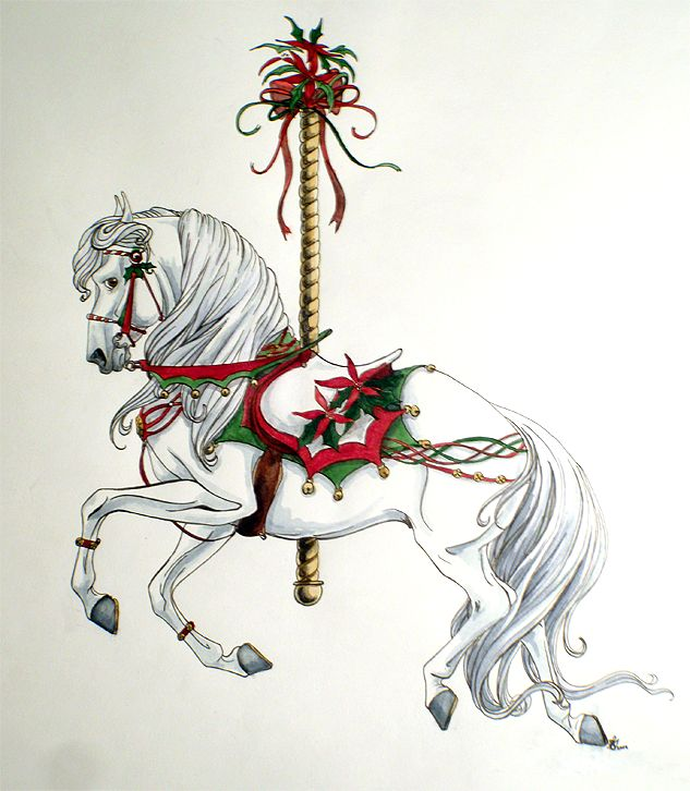 Pretty much this (though, not Christmassy) || 2009 Christmas Carousel by lunatteo on DeviantArt