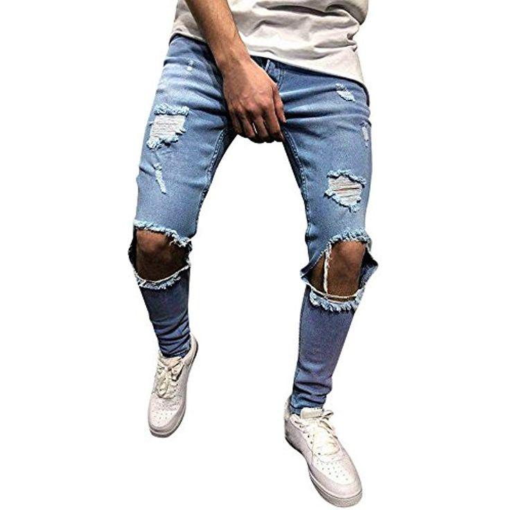 Tomatoa Herren Denim Jeans Stretch Denim Hosen Dis…